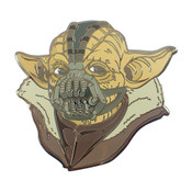 Bane Yoda Lapel Pin Hard Enamel Black Nickel