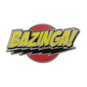 Bazinga Lapel Pin Hard Enamel Silver
