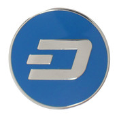 Dash Logo Lapel Pin Hard Enamel Silver