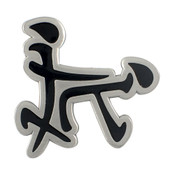 Doggy Style Kanji Lapel Pin Hard Enamel Antiqued Silver