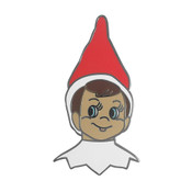 Elf on the Shelf Lapel Pin Hard Enamel Black Nickel