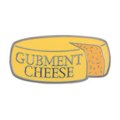 Gubment Cheese Lapel Pin Hard Enamel Black Nickel