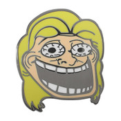 Hillary Troll Lapel Pin Hard Enamel Black Nickel