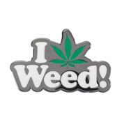 I Love Weed Lapel Pin Hard Enamel Black Nickel