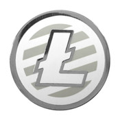 Litecoin Logo Lapel Pin Hard Enamel Black Nickel