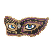 Mask Eyes Magnet Hard Enamel Gold