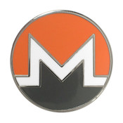 Monero Logo Lapel Pin Hard Enamel Silver
