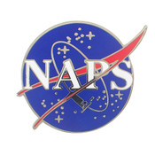 NAPS Lapel Pin Hard Enamel Silver