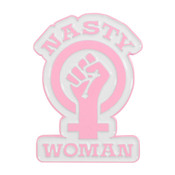 Nasty Woman Lapel Pin Dyed PMS 2037 Metal