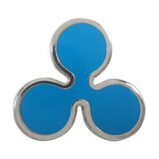 Ripple Logo Lapel Pin Hard Enamel Silver