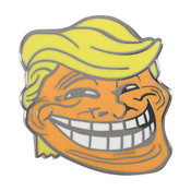 Trump Troll Lapel Pin Hard Enamel Black Nickel