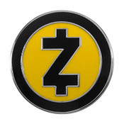 Zcash Logo Lapel Pin Hard Enamel Silver