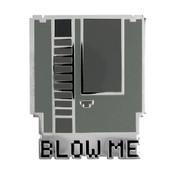 8-Bit NES Blow Me Lapel Pin Hard Enamel Silver Metal