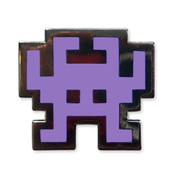 TI-99/4A Invaders - Purple Lapel Pin Hard Enamel Black Nickel