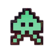 TI-99/4A Invaders - Green Lapel Pin Hard Enamel Black Nickel