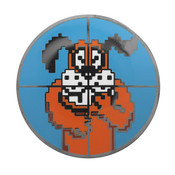 Duck Hunt - Targeted Dog Lapel Pin Hard Enamel Black Nickel