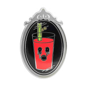 Evil Bloody Mary Lapel Pin Hard Enamel Silver
