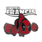 Finding Francis Lapel Pin Hard Enamel Black Nickel