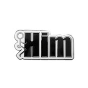 Fuck Him Lapel Pin Hard Enamel Silver