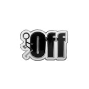 Fuck Off Lapel Pin Hard Enamel Silver