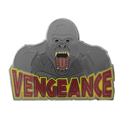 Gorilla Vengeance Lapel Pin Hard Enamel Black Nickel
