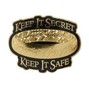 Keep It Secret Keep It Safe Lapel Pin Hard Enamel Gold