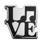 Music - LOVE Lapel Pin Hard Enamel Silver