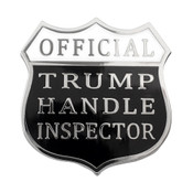 Official Trump Handle Inspector Lapel Pin Hard Enamel Silver