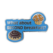 Second Breakfast Lapel Pin Hard Enamel Silver