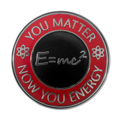 You Matter Now You Energy Lapel Pin Hard Enamel Silver