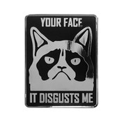 Your Face - It Disgusts Me Lapel Pin Hard Enamel Silver