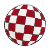 Amiga Ball Lapel Pin Hard Enamel Black Nickel