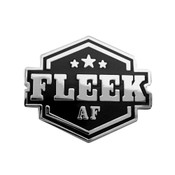 Fleek AF Lapel Pin Hard Enamel Silver