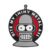 Futurama - Bender Bite My Ass Lapel Pin Soft Enamel Black Dyed Metal
