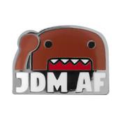 JDM AF Domo Lapel Pin Hard Enamel Black Nickel