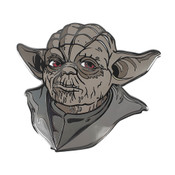 Lord Yoda Lapel Pin Hard Enamel Black Nickel