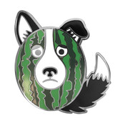 Melon Collie Lapel Pin Hard Enamel Black Nickel