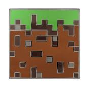 Minecraft - Grass Block Lapel Pin Hard Enamel Black Nickel