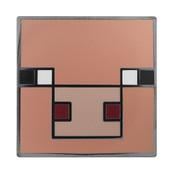 Minecraft - Pig Lapel Pin Hard Enamel Black Nickel