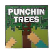 Minecraft - Punchin Trees Lapel Pin Hard Enamel Black Nickel