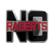 No Ragerts Lapel Pin Hard Enamel Silver