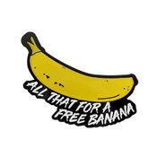 OCR - Banana Lapel Pin Soft Enamel Black Dyed Metal
