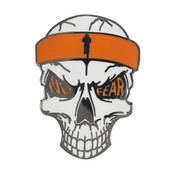 OCR - Mudder Skull Lapel Pin Hard Enamel Black Nickel