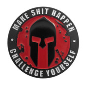 OCR - Spartan - Make Shit Happen Lapel Pin Soft Enamel Black Dyed Metal