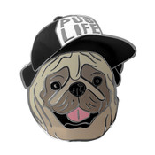 Pug Life - Baseball Lapel Pin Hard Enamel Black Nickel