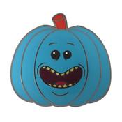 Pumpkin - Mr. Meeseeks Lapel Pin Hard Enamel Black Nickel