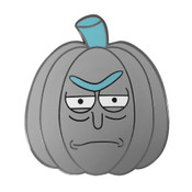 Pumpkin - Rick Lapel Pin Hard Enamel Black Nickel