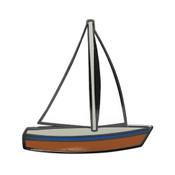 Sailboat Lapel Pin Hard Enamel Black Nickel