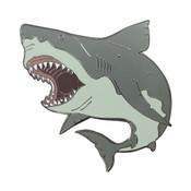 Shark Attack Lapel Pin Hard Enamel Black Nickel