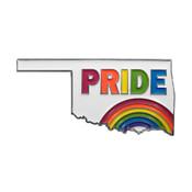 Pride Rainbow Lapel Pin Soft Enamel Silver